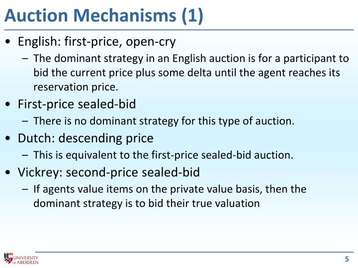 Auction Mechanisms (1)