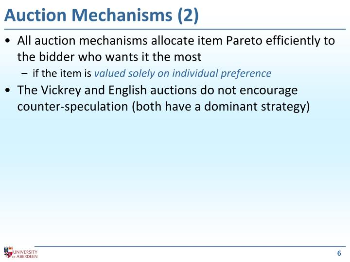 Auction Mechanisms (2)