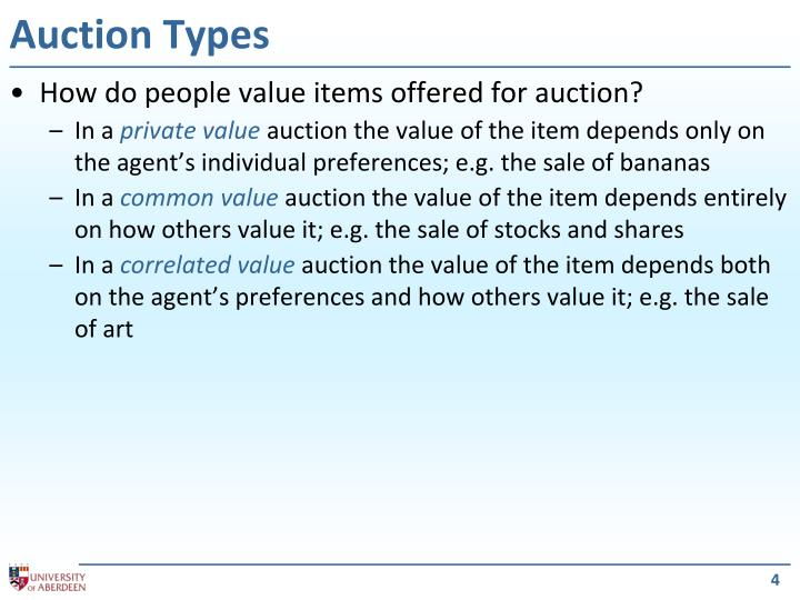 Auction Types