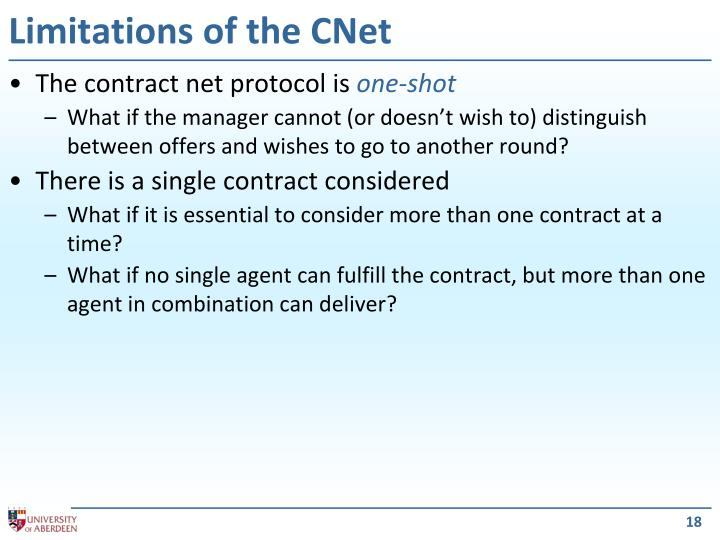 Limitations of the CNet