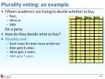 plurality voting an example
