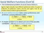 social welfare functions cont d1