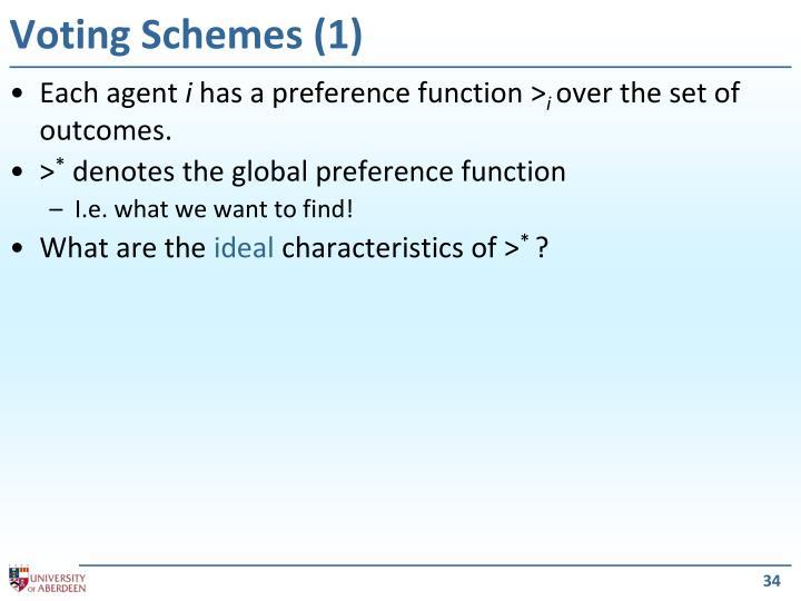 Voting Schemes (1)