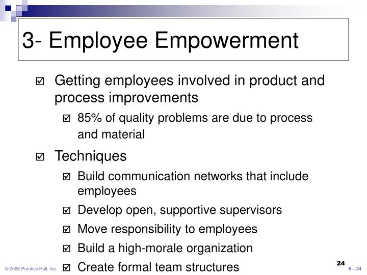3- Employee Empowerment