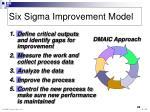 six sigma improvement model