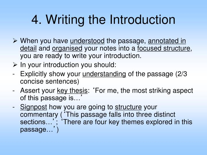 4. Writing the Introduction