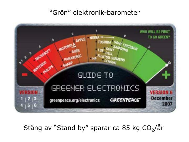 Grn elektronik-barometer