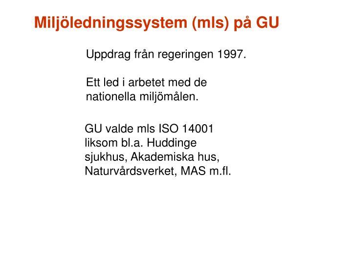 Miljledningssystem (mls) p GU