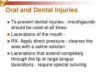 oral and dental injuries