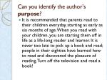 can you identify the author s purpose3