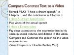 compare contrast text to a video