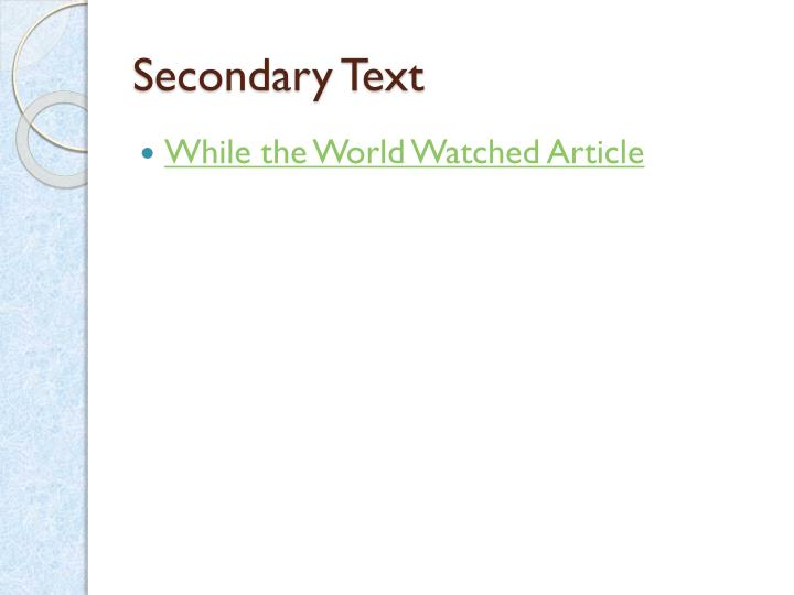 Secondary Text