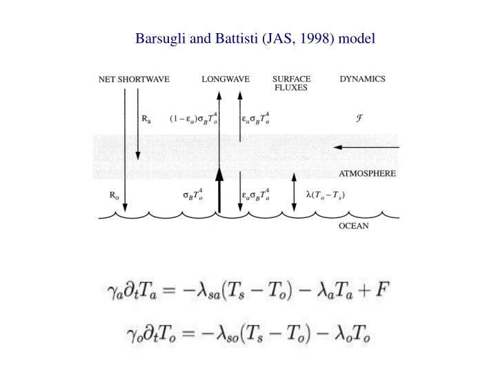 Barsugli and Battisti (JAS, 1998) model