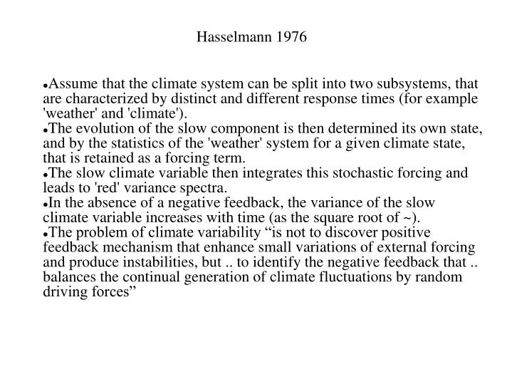 Hasselmann 1976