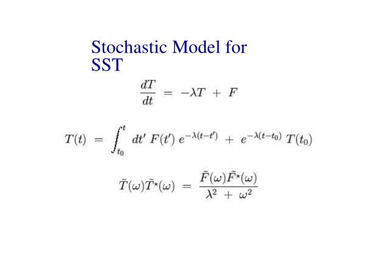 Stochastic Model for SST