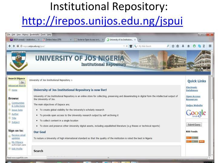 Institutional Repository: