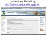 institutional repository http irepos unijos edu ng jspui