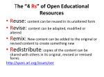 t he 4 rs of open educational resources