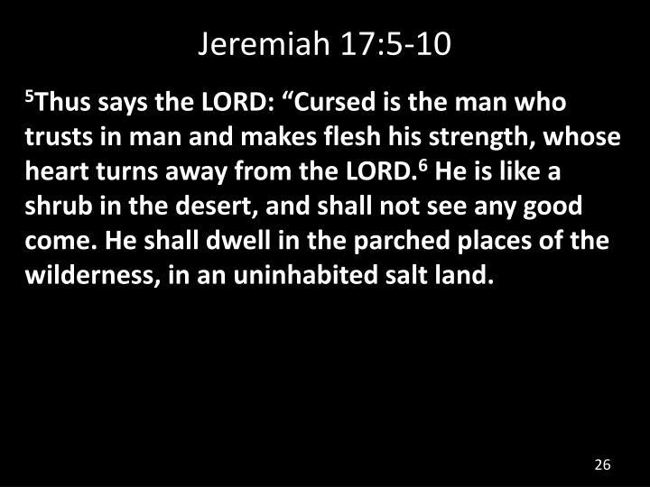 Jeremiah 17:5-10