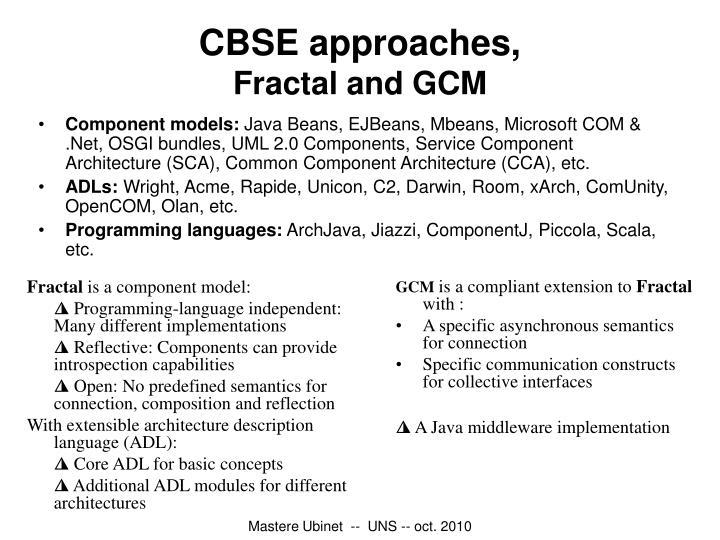 Component models: