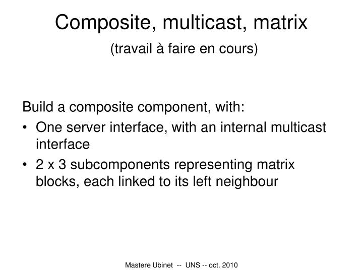 Composite, multicast, matrix
