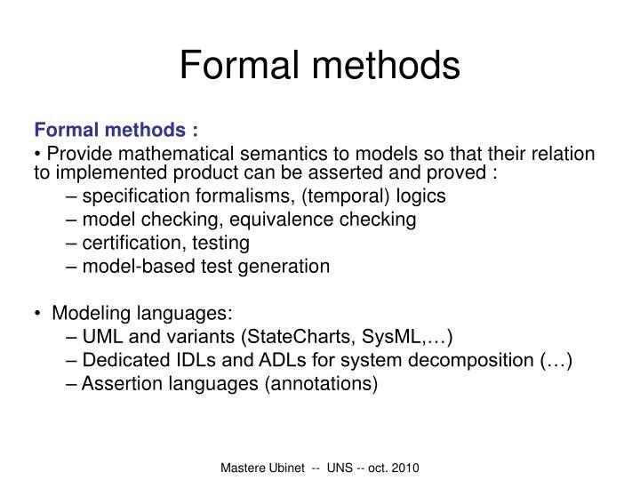 Formal methods