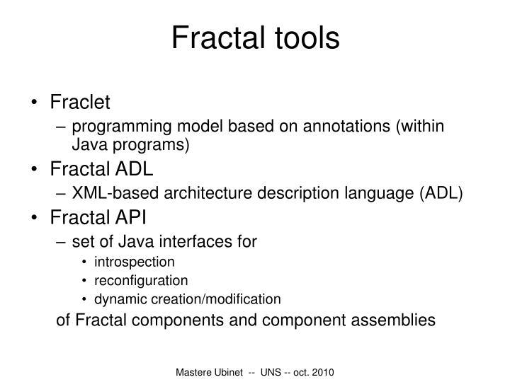 Fractal tools