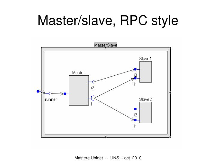 Master/slave, RPC style