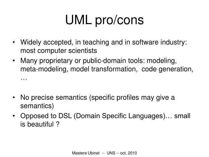 UML pro/cons