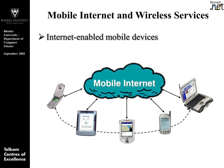 Mobile internet and wireless services