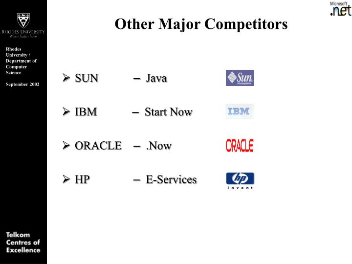 Other Major Competitors
