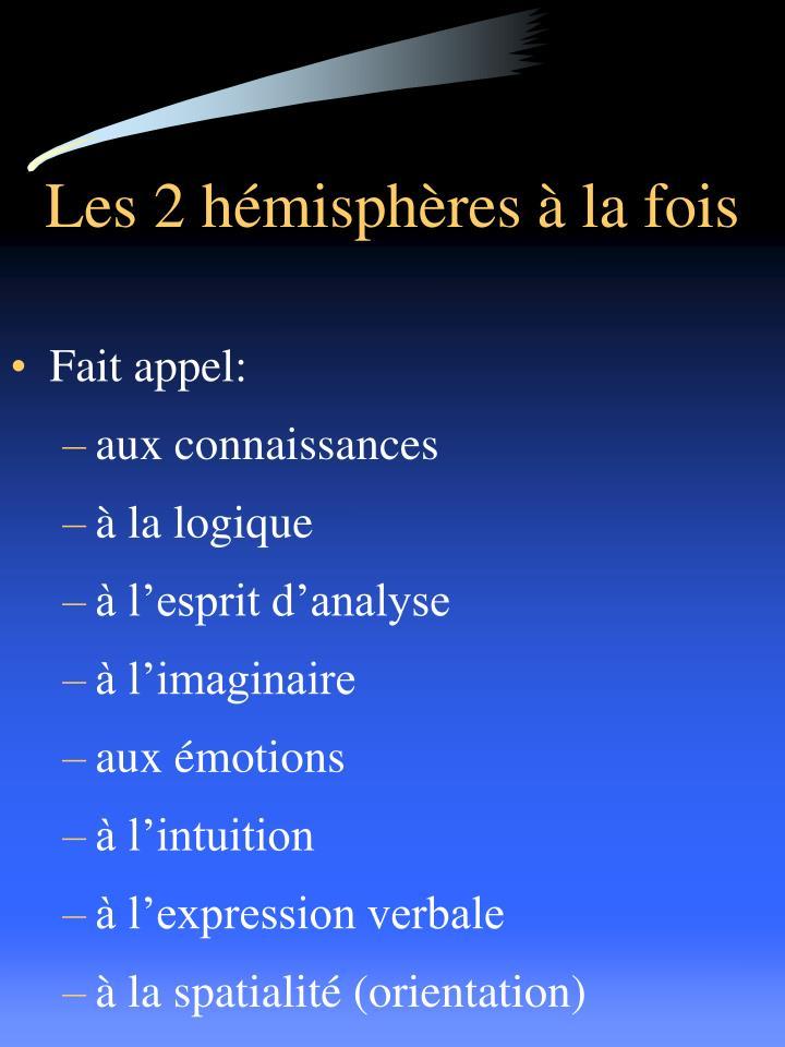 Les 2 hémisphères à la fois