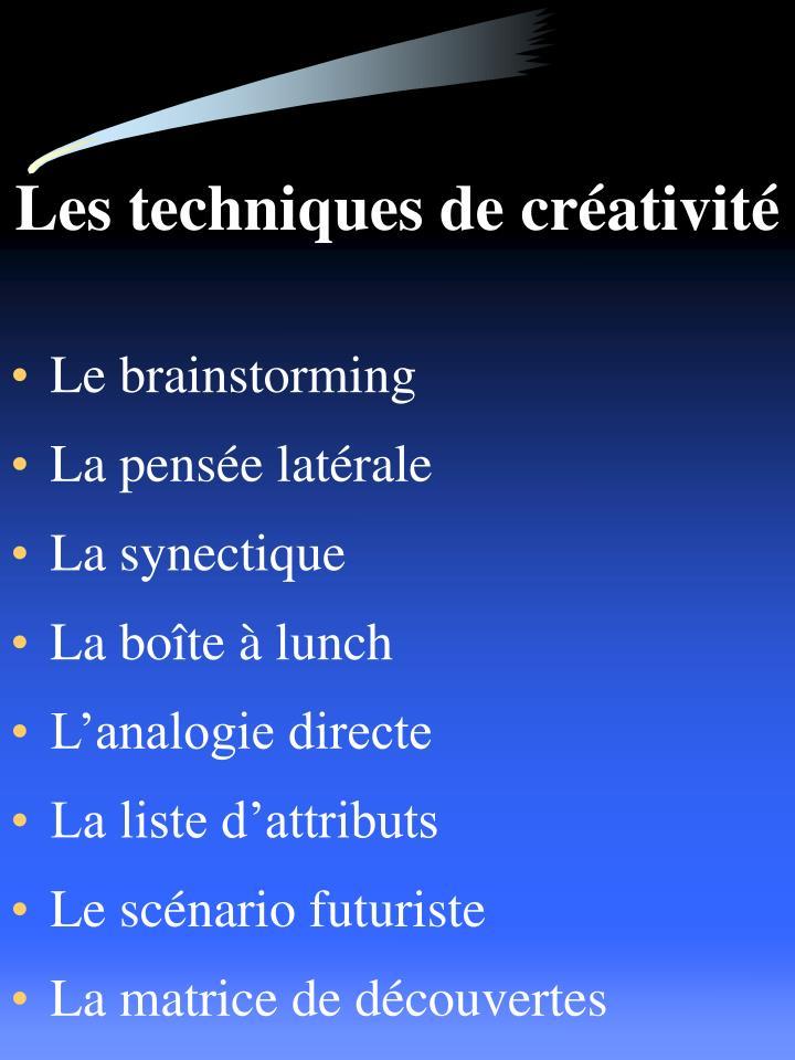 Les techniques de créativité