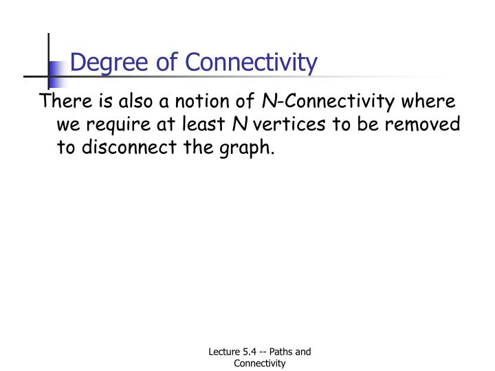 Degree of Connectivity