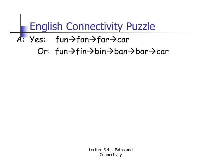 English Connectivity Puzzle
