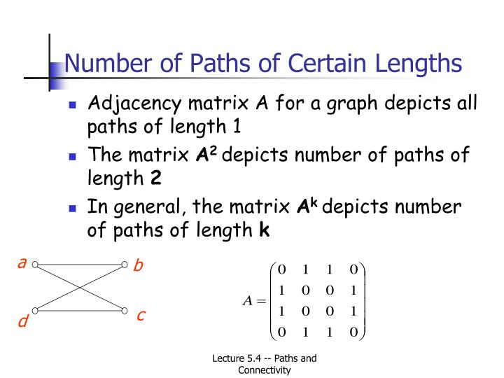 Number of Paths of Certain Lengths