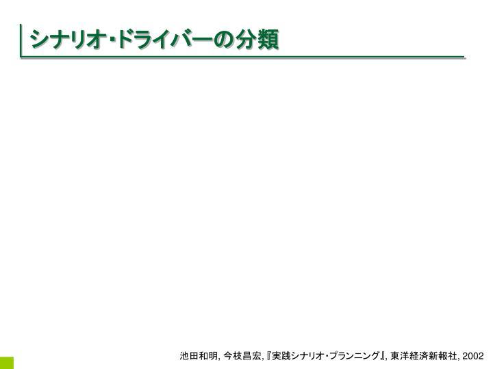 シナリオ・ドライバーの分類