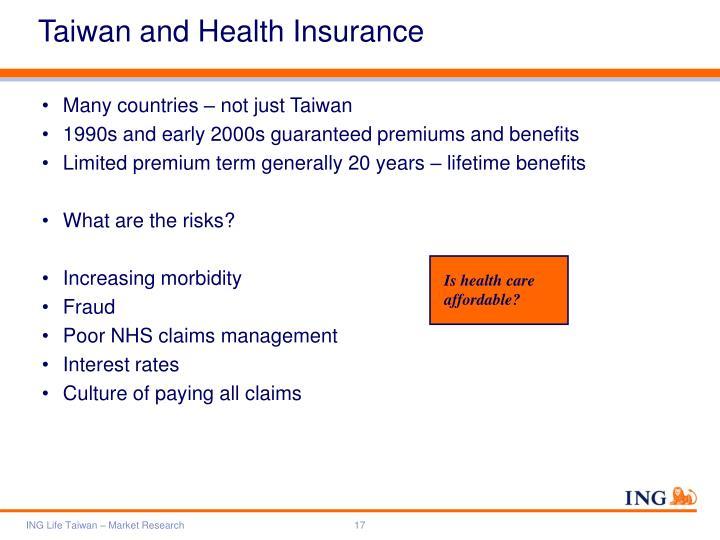 Taiwan and Health Insurance