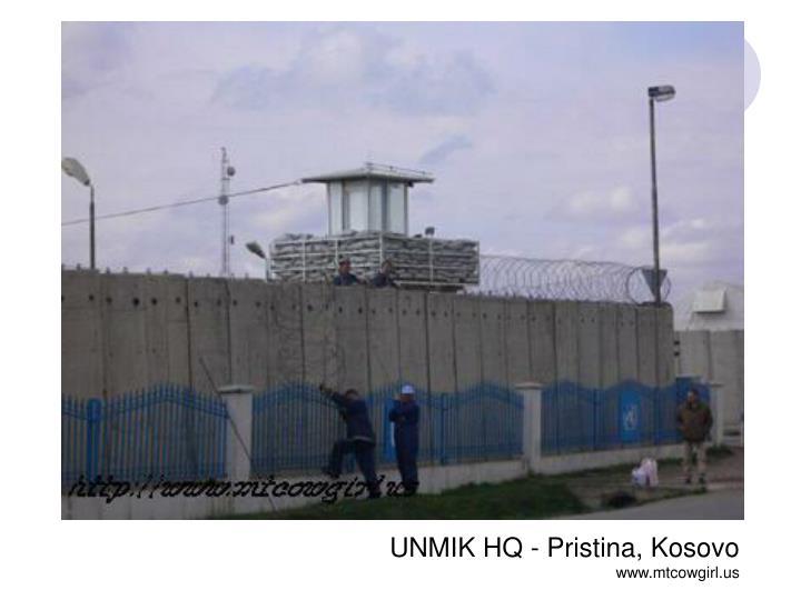 UNMIK HQ - Pristina, Kosovo