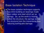 base isolation technique