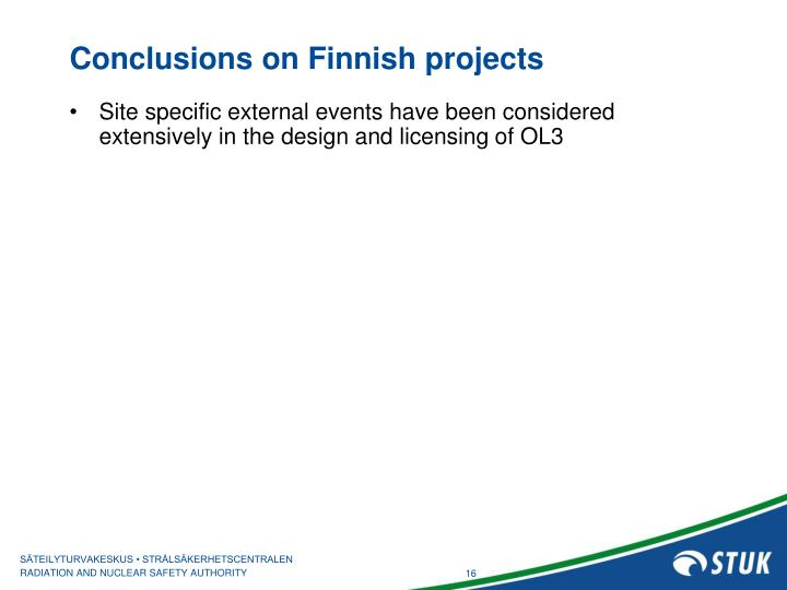 Conclusions on Finnish projects