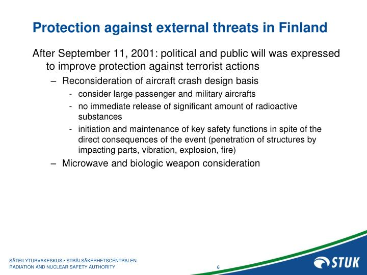 Protection against external