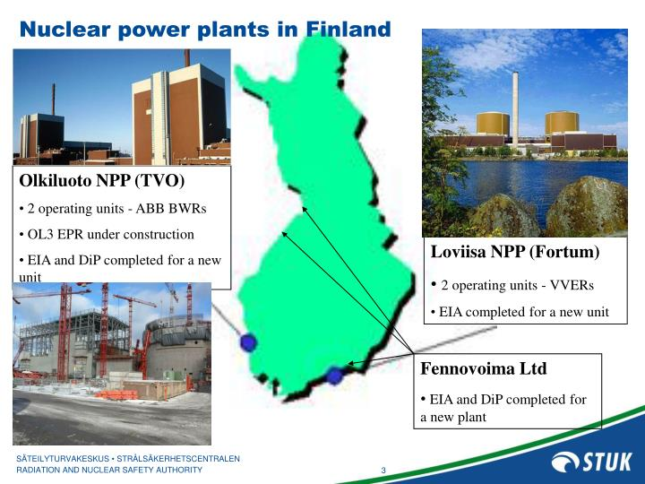 Nuclear power plants in Finland