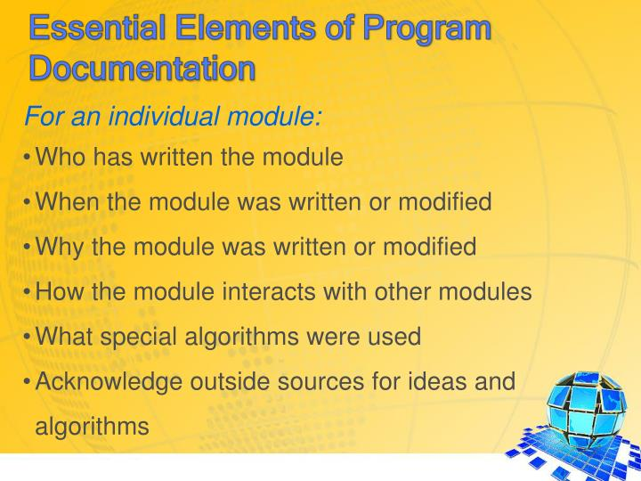 For an individual module: