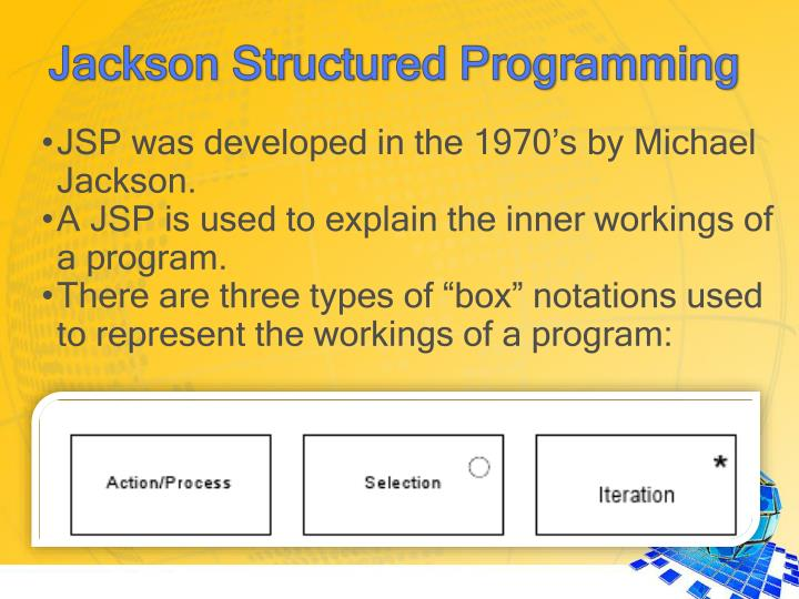 JSP was developed in the 1970's by Michael Jackson.