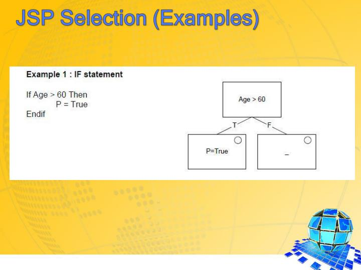 JSP Selection (Examples)
