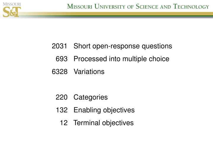2031   Short open-response questions