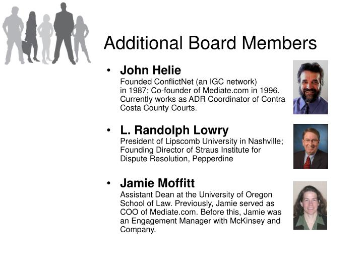 Additional Board Members