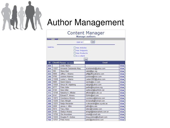 Author Management