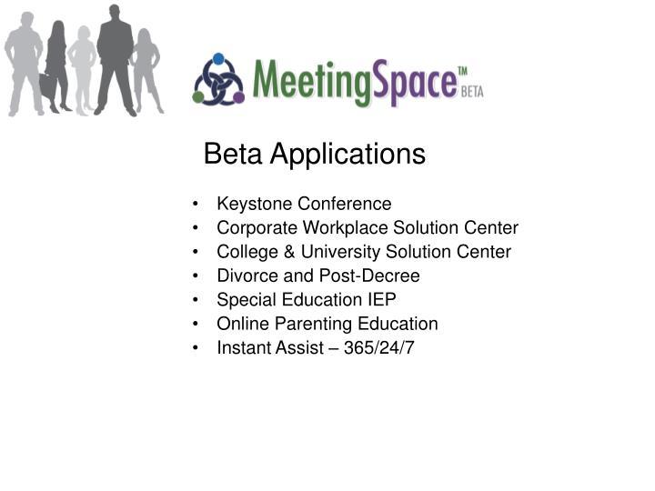 Beta Applications